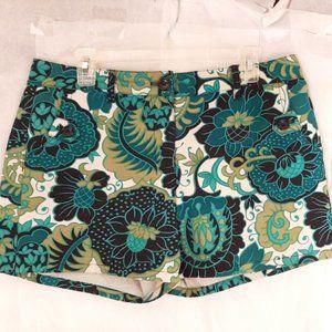 Ann Taylor Designer Paisley Shorts Sz 8